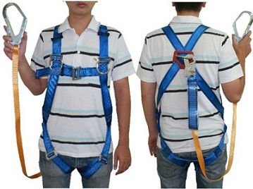 how to set safety lines for harness